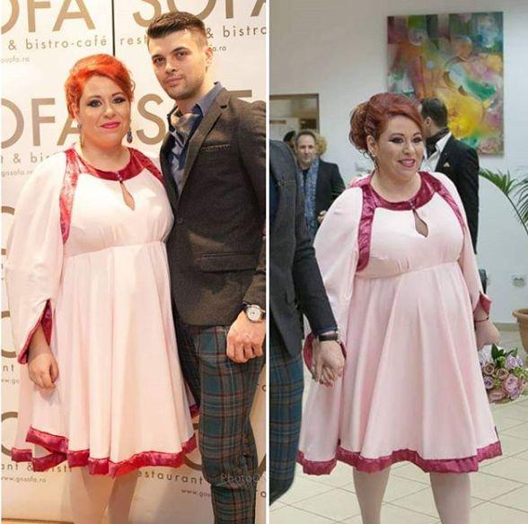 Oana Roman își donează rochia pe care a purtat-o la cununia civilă