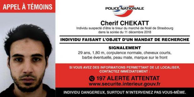 Portretul suspectului atacului de la Strasbourg / Foto: Twitter