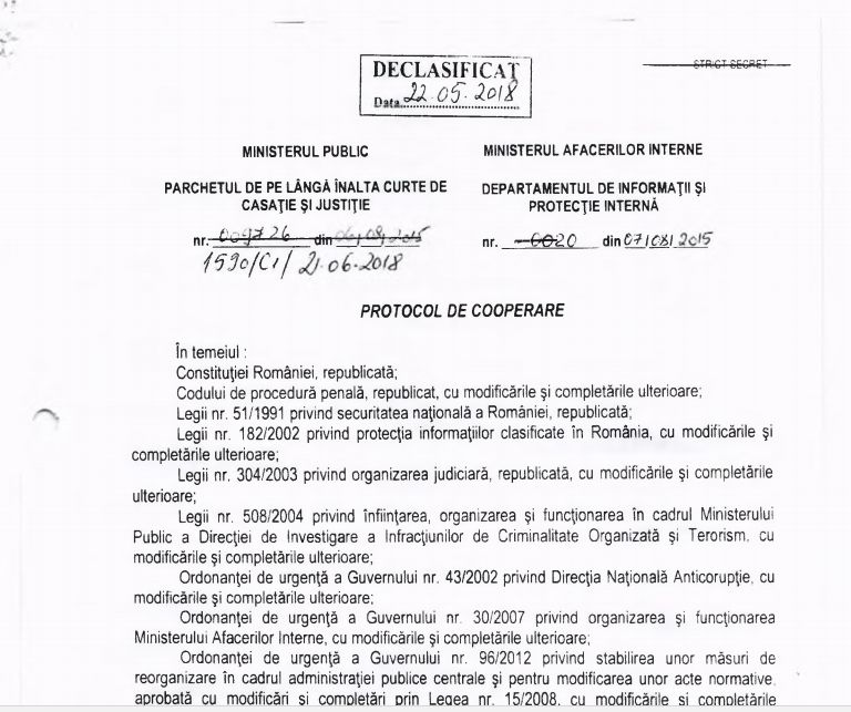 """Protocolul dintre Parchet și fosta """"Doi și-un sfert"""", dezvăluit de un parlamentar din Opoziție"""