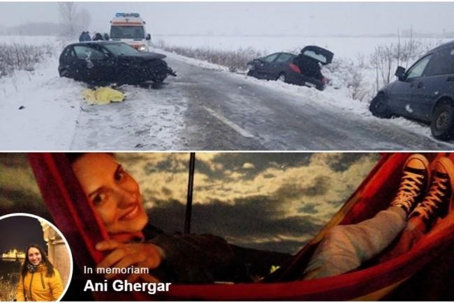 FOTO/ Ea este tânăra de 28 de ani care a murit în accidentul din Timiș. Ani era educatoare și mergea la repetițiile pentru serbarea de Crăciun