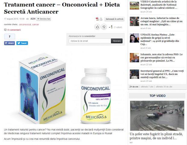 Libertatea, despre publicitatea mincinoasă din propriul ziar, din presă, de pe TV și de pe internet! Afacerea suplimentelor alimentare care promit că te vindecă de cancer!