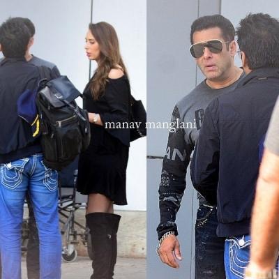 Iulia Vântur şi Salman Khan s-au întors din vacanţă, după Revelion. Cum au fost surprinși