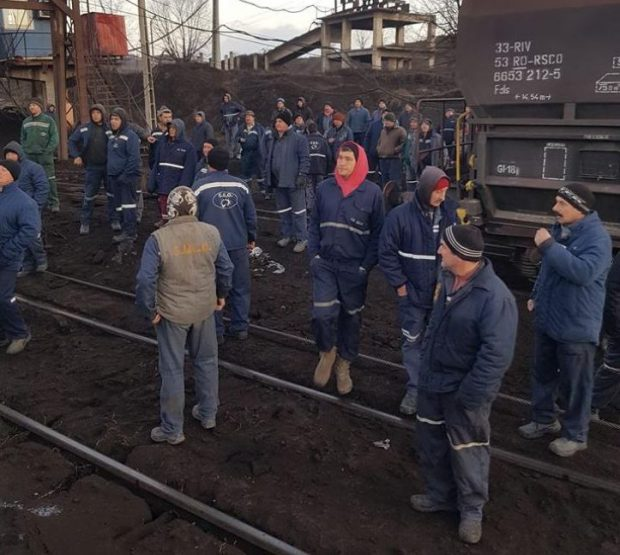 Greva minerilor de la Complexul Energetic Oltenia continuă și marți