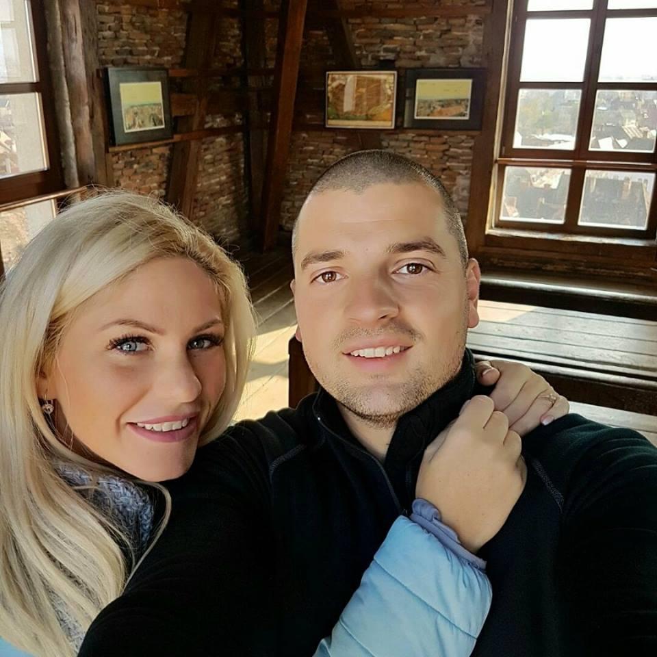 Hannelore, alături de fostul ei soț, Bogdan