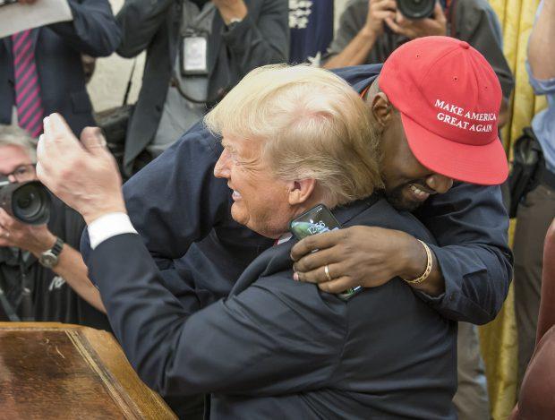 FOTO | Kanye West vrea să devină președintele SUA. Rapperul este un susținător al lui Donald Trump