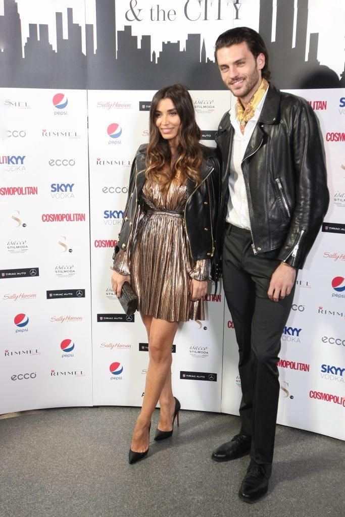 Lili Sandu alături de iubitul ei, fotomodelul Silviu