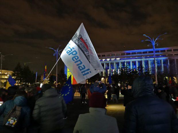 Protest pentru susținerea lui Kovesi, în Piața Victoriei. Circa 1.000 de persoane au ieșit în stradă
