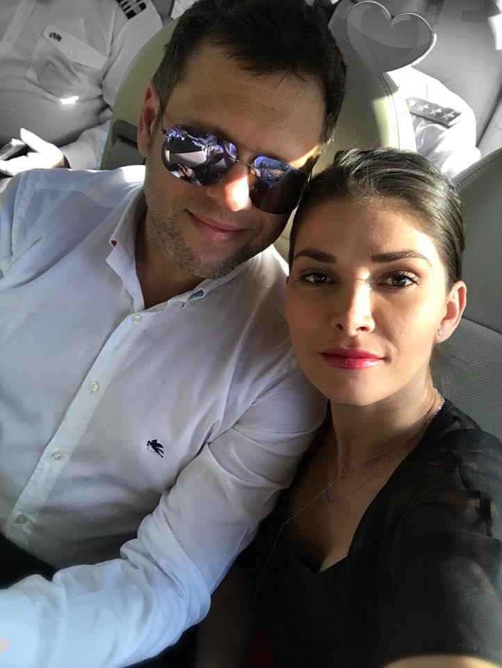 Alina Pușcaș, alături de partenerul ei de viață, Mihai Stoenescu