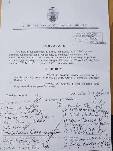 """Ședință extraordinară a CGMB pentru schimbarea lui Aurelian Bădulescu din funcția de viceprimar, în 8 martie. Bădulescu: """"Data o stabilește Direcția Juridică. Orlando Culea nu are mandat să depună semnăturile pentru convocare"""""""