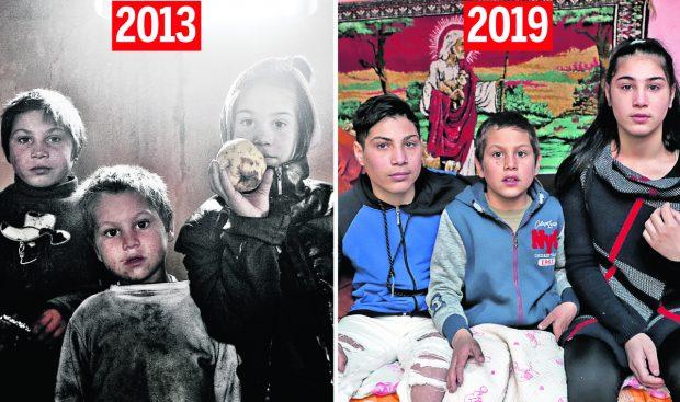 Libertatea a refăcut după 6 ani o fotografie cu aceleași personaje: trei copii romi, aruncați de stat într-un centru de plasament dur! Povestea lipsei de șansă din România