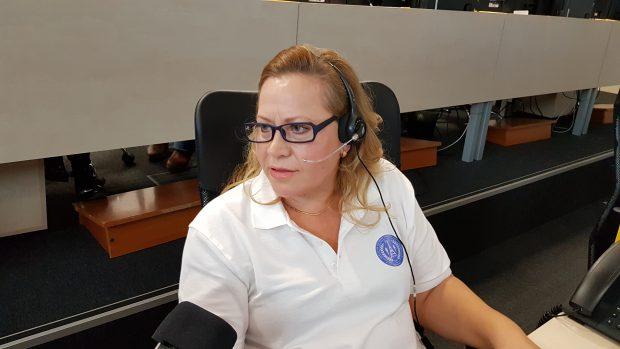 Lilia Rusu, operator la Centrul Municipal Integrat pentru Situații de Urgență