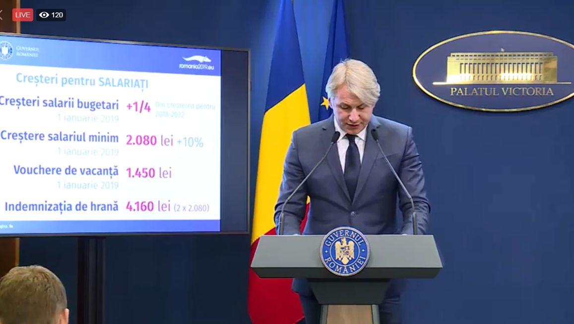 """Teodorovici lasă Primăriei Capitalei doar 49% din impozitul pe venit. """"Ministerul Finanțelor va ține în frâu cheltuielile"""""""