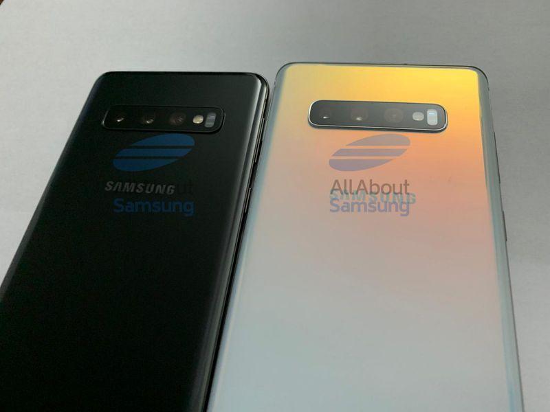 Samsung Galaxy S10, partea din spate