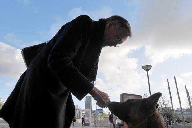"""Cel mai bun prieten al câinelui. Povestea lui Mihai, un român care locuiește """"pe ultima treaptă, pe stânga"""" a Bisericii St. Eustache, din Paris"""
