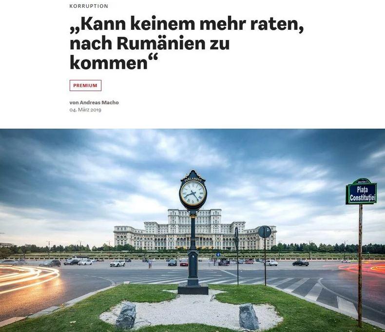 """""""N-aș recomanda nici unei firme să vină aici"""" - corupția din România, subiectul unei ample analize în cel mai important săptămânal de business din Germania, care nu găzduiește, însă, nicio poziție a autorităților din România"""