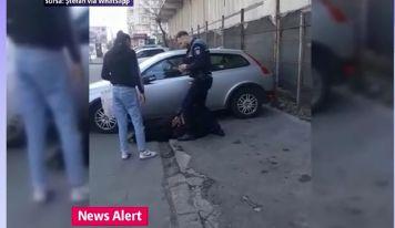 Focuri de armă în zona Unirii din București, după ce un bărbat a vrut să atace un polițist cu un cuțit