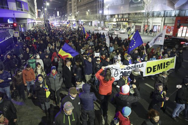 Protest la București. Inquam Photos / George Călin