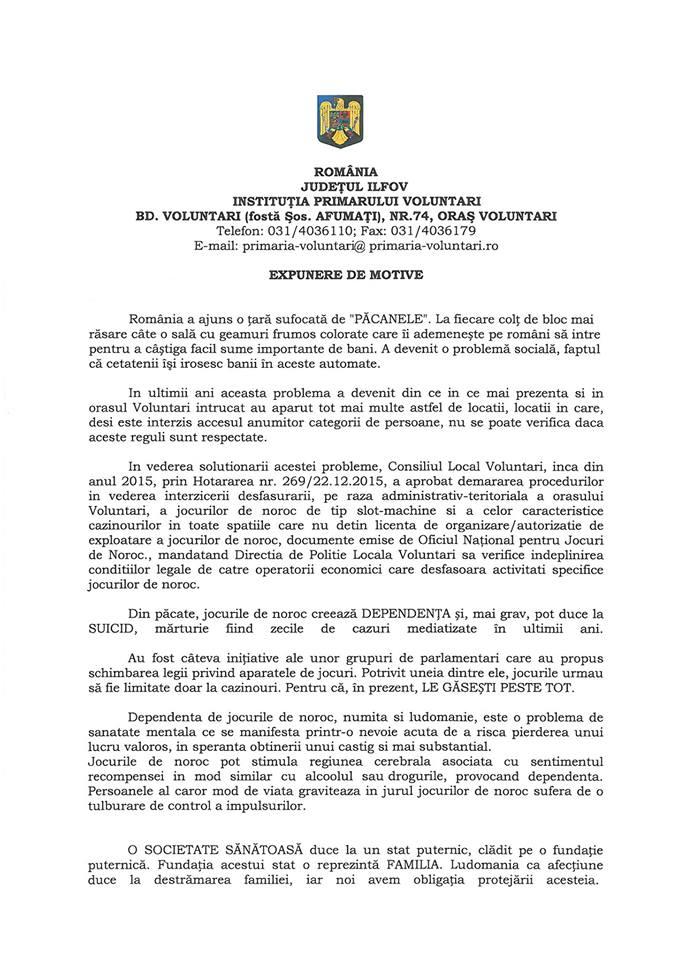 Florentin Pandele vrea să interzică păcănelele în Voluntari. Referendum în aceeași zi cu alegerile europarlamentare