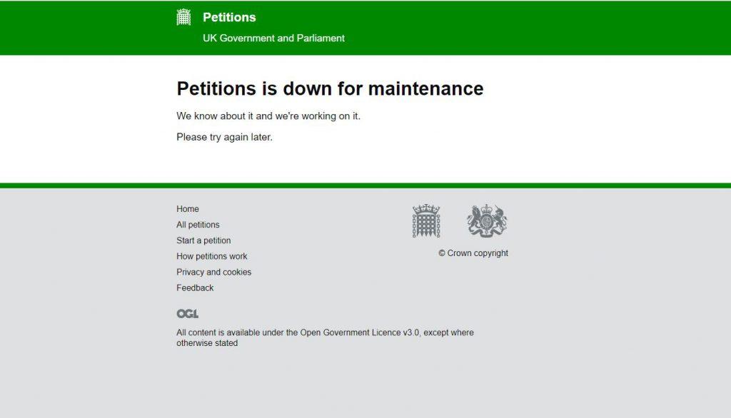 Site-ul Parlamentului britanic a căzut din cauza numărului mare de semnături la o petiție care cere revocarea Articolului 50
