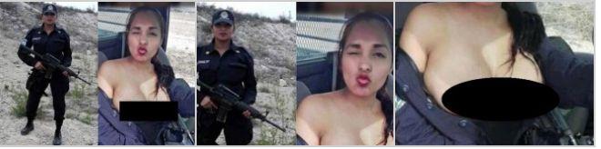 O polițistă și-a făcut fotografii în sânii goi în timp ce se afla în timpul serviciului