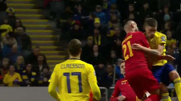FOTO&VIDEO   Suedia - România 2-1, preliminariile Euro 2020. Debut strâmb pentru tricolori, cu două goluri încasate în 7 minute