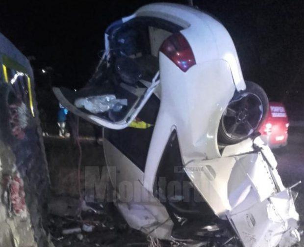 Un bărbat a murit pe loc după ce a intrat cu 140 de kilometri/h într-un zid!