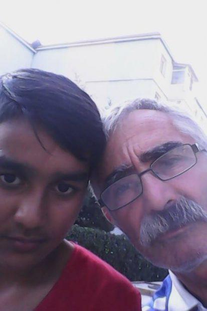 Ștefan Bairam cu tata