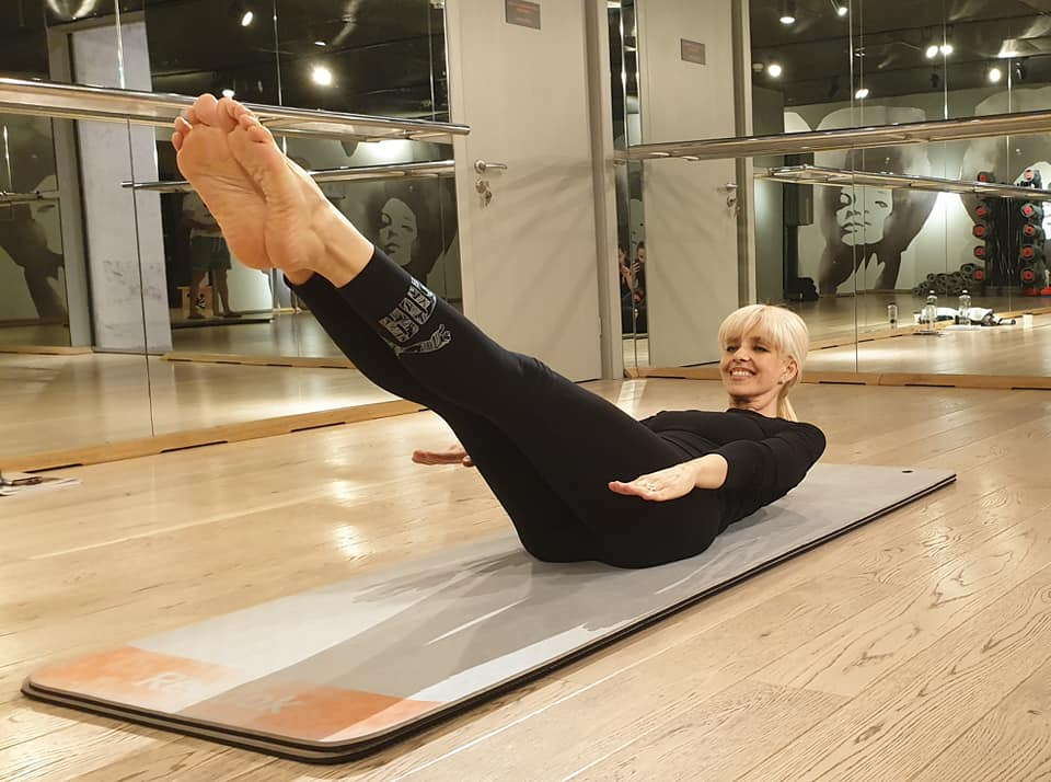Bianca Brad e acum instructor de pilates