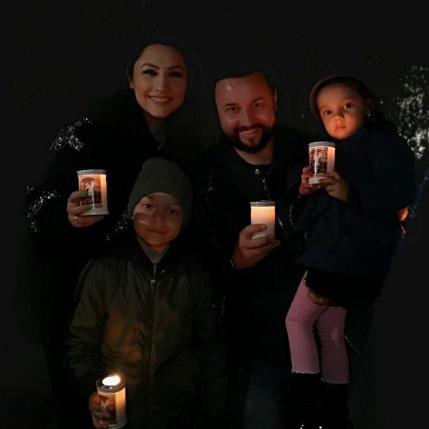 Cum a fost surprinsă Andra Măruță în Noaptea de Înviere, alături de soțul ei