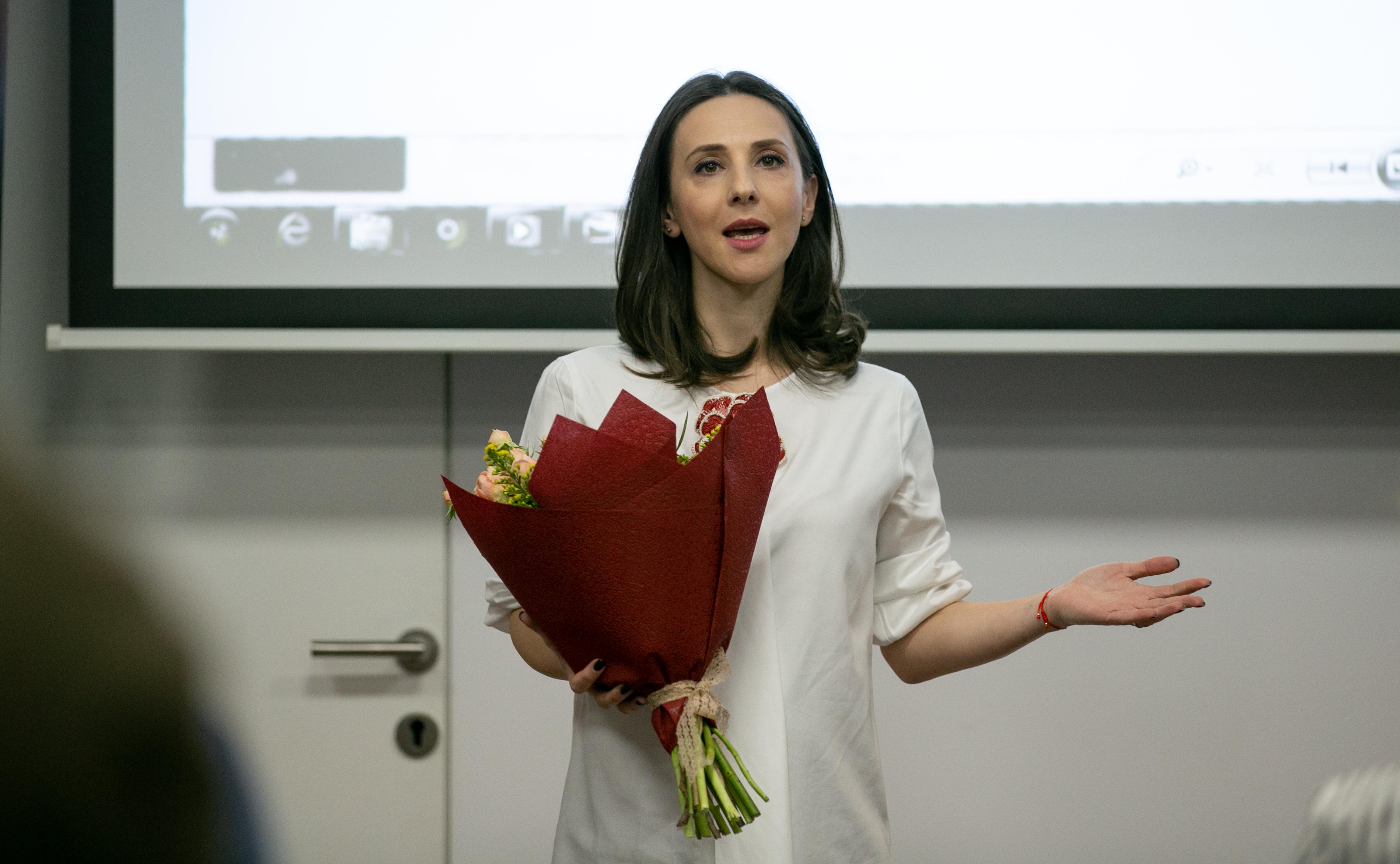 Andreea Răducan a anunțat recent că este însărcinată pentru a doua oară, urmând să nască un băiețel anul acesta. FOTO: Vlad Chirea
