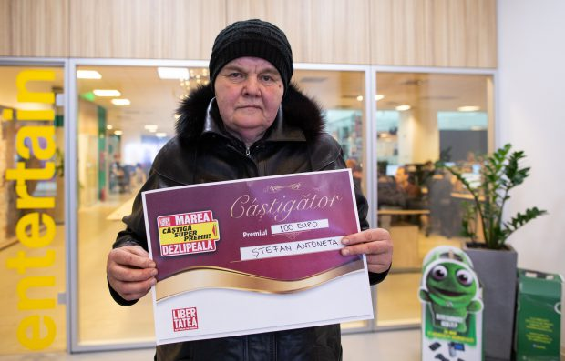 Antoneta Ștefan a câștigat 100 de euro la concursul ziarului Libertatea, Marea Dezlipeală