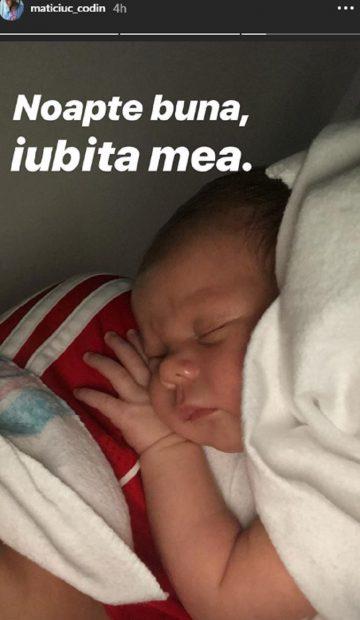 Prima imagine cu chipul fetiței lui Codin Maticiuc. Ce frumoasă este Smaranda