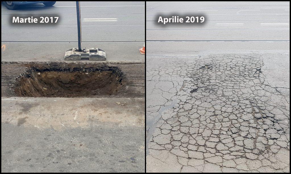 """VIDEO   Asfalt turnat direct peste pământ pe o șosea din Ploiești, reabilitată """"pe fonduri"""". A costat 13,6 milioane de euro, a fost gata în 2016, iar acum se dezintegrează!"""
