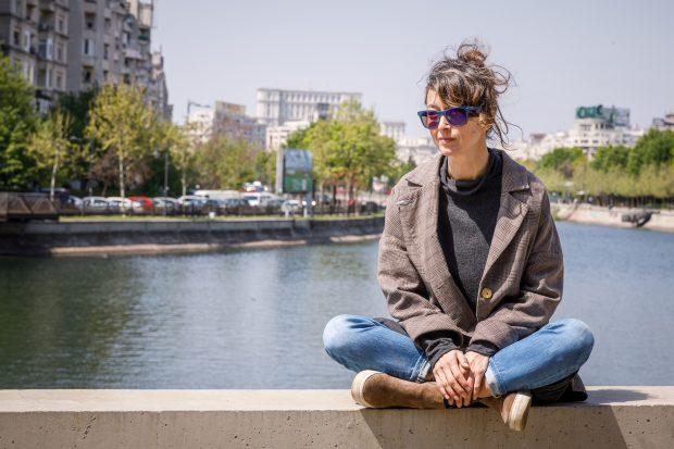 Mihaela Alexandra Dancs - inițiatoarea flashmobului de la Ministerul Culturii