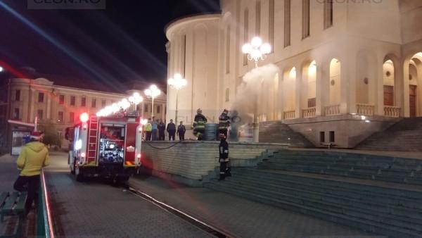 Un incendiu a fost observat luni seară lângă o catedrală ortodoxă din Arad