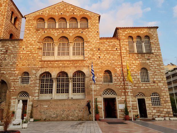 FOTO | Cum s-a văzut Duminica Floriilor în Catedrala Sfântul Dumitru din Salonic