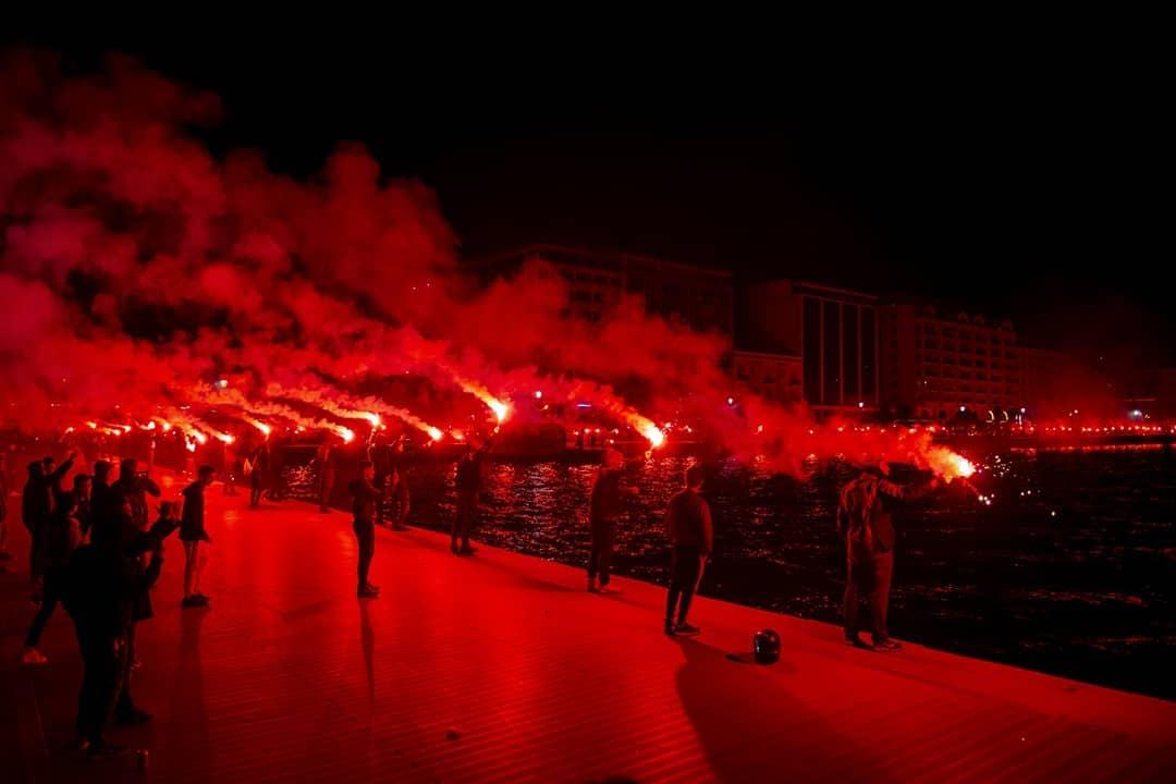 """CORESPONDENȚĂ DIN SALONIC: """"Semizeii"""" Salonicului și """"Inelul de foc""""! Fanii lui PAOK au început deja petrecerea! Echipa lui Lucescu, la un punct de titlu"""