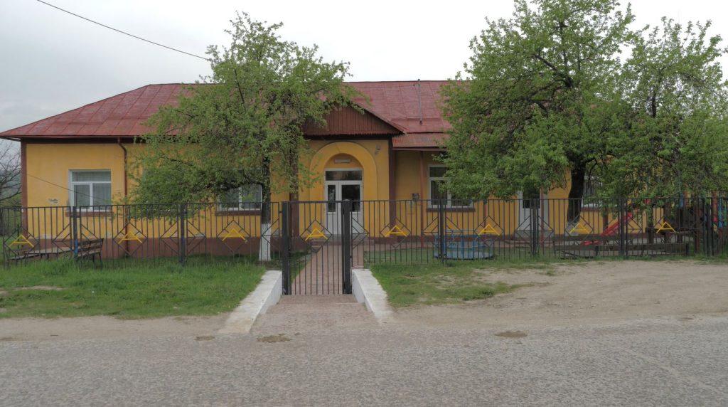 Grădinița din Coltești, comuna Alunu, acolo unde a avut loc accidentul