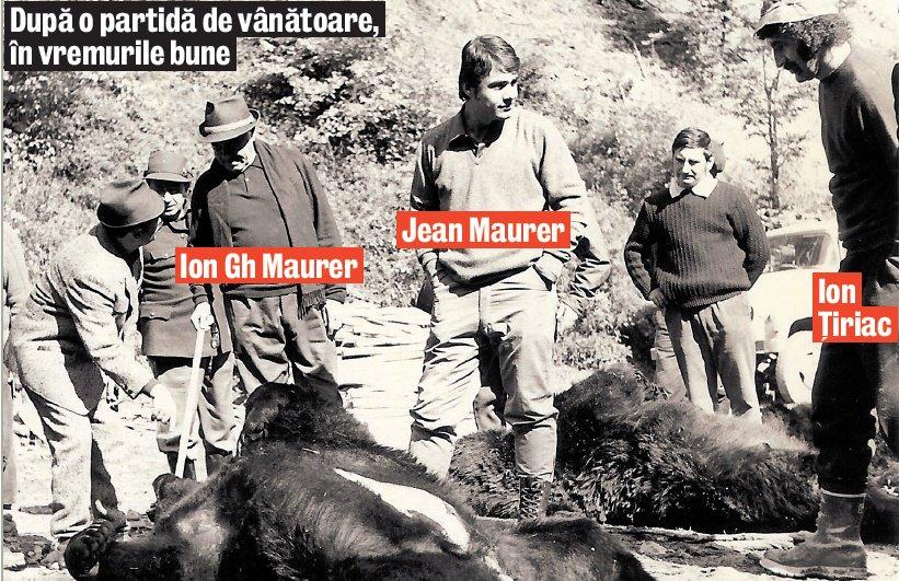 Cu fostul prim-ministru Ion Gheorghe Maurer, la vânătoare