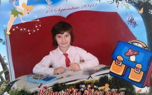 Nicoleta Bugiu, 8 ani, din comuna Ulmi, jud. Dâmbovița, a murit în martie 2012