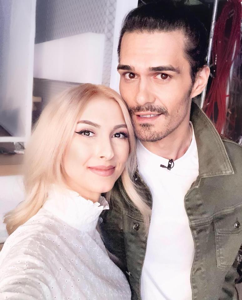 Andreea Bălan, alături de soțul ei, actorul George Burcea