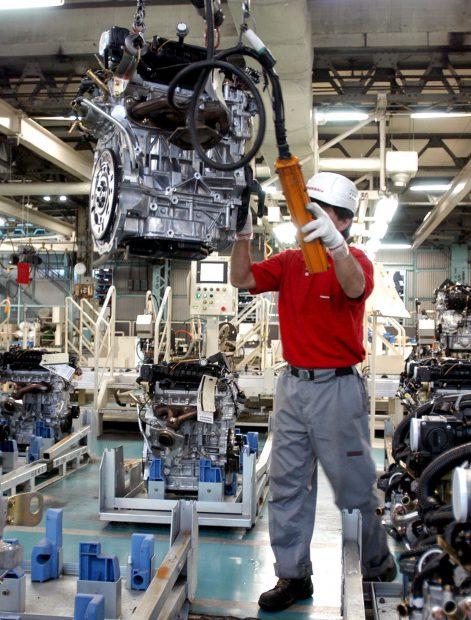 Fabrica în care se produc motoare pentru autoturismele Nissan
