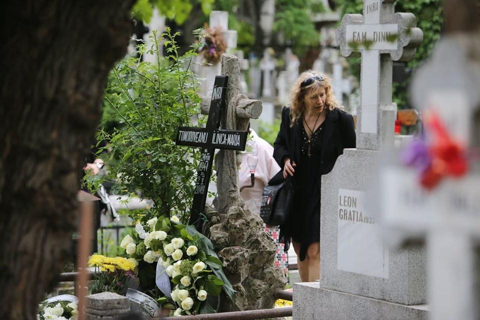 Ilinca Tomoroveanu a fost înmormântată la Cimitirul Bellu din Capitală