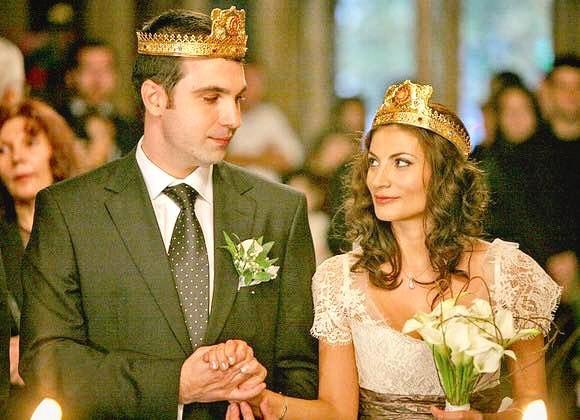 Ioana Ginghină și Alexandru Papadopol, în ziua nunții