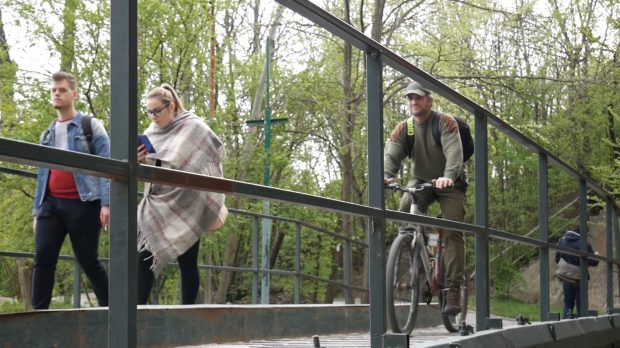 Podul pietonal din Parcul Herăstrău