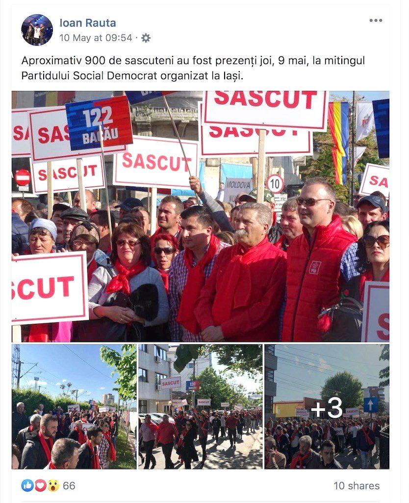 Filiala PSD Sascut a dus elevi la mitingul de la Iași, iar acum îi învață să mintă că au fost în excursie!