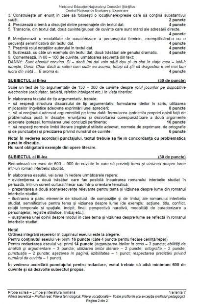 Ce a picat la BAC 2016 Limba Română - Profil Real
