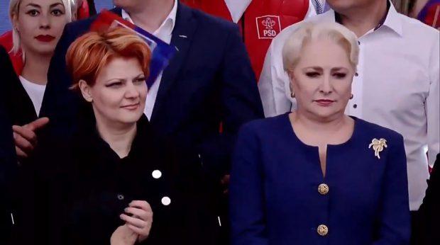 VIDEO/ Mitingul PSD de la Galați. Dragnea și Dăncilă, atacuri la Iohannis. Protestatarii au blocat autocarele simpatizanților partidului