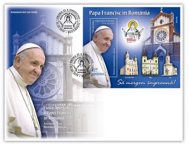 FOTO | Timbre care marchează vizita Papei Francisc în România