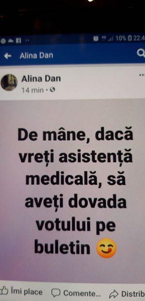 """Managerul Spitalului din Mangalia, pusă pe glume după alegeri: """"Dacă vreți asistență medicală să aveți dovada votului pe buletin"""""""